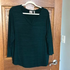 Chico's Soft & Stretchy Dk. Green Top NWOT